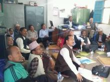 पूर्वखोला गाउँपालिकाको शिक्षा कार्यबिधी निर्माण सम्बन्धि ३ दिने  कार्यशालामा सहभागिहरू