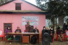 पूर्वखोला गाउँपालिकाको परिसरमा  सार्वजनिक सुनुवाई कार्यक्रम
